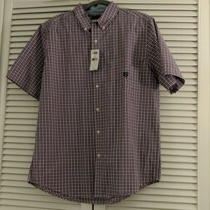 Chaps collared shirt with pocket